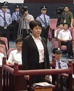 Gu Kailai in court at Hefei in August.