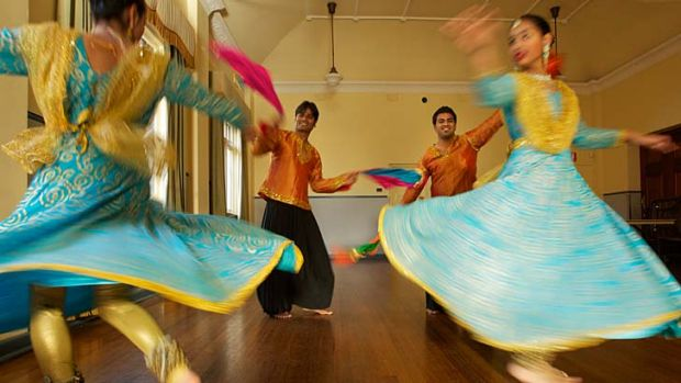 Stepping up ... dancers of Ruchi Sanghi Dance Company and Natraj Dance Studio who will perform as part of the ...