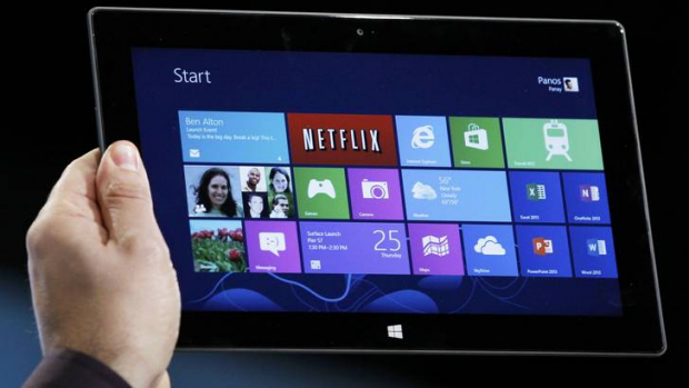 Microsoft joins the tablet market with Surface.