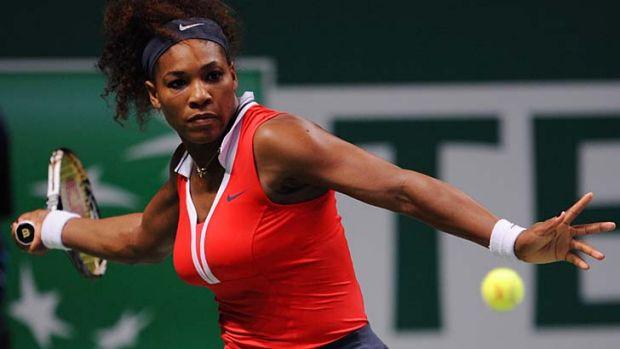 """Serena Williams in action against Victoria Azarenka on the third day of the WTA championship in Istanbul,Turkey. """"I ..."""