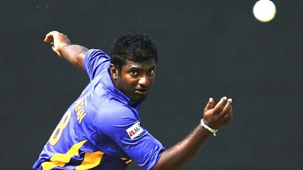 Doosra exponent ... Muttiah Muralidaran of Sri Lanka took a world record 800 wickets in Test matches.