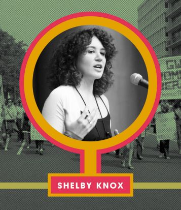 Ruby Aitken's illustration Why Can't I Be You, with feminist activist Shelby Knox.