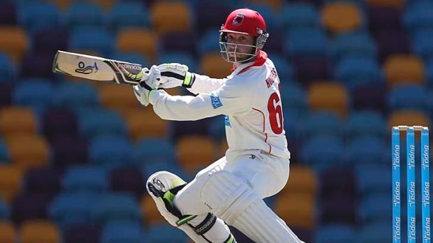 Phil Hughes' technique basically developed from the way he scored in his backyard.