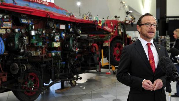 Director of the National Museum of Australia Andrew Sayers talks about the display of big objects from the National ...