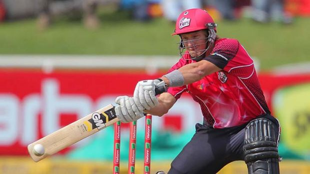 Fluctuating asset … Shane Watson on the attack for the Sydney Sixers in South Africa.