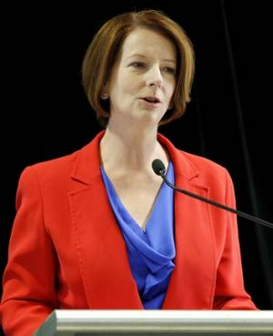 Julia Gillard will announce results of white paper that says 'Australia is in the right place at the right time'.