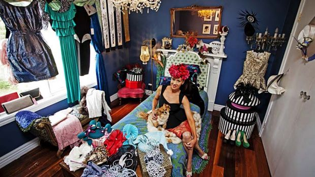 Jacqueline Russo in her dressing room at home.