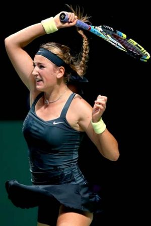 Serving it up: Victoria Azarenka is making every moment count and reaping the rewards.