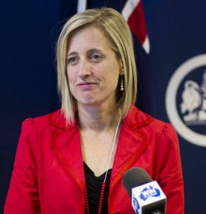 Chief Minister Katy Gallagher speaks with the media on Sunday.