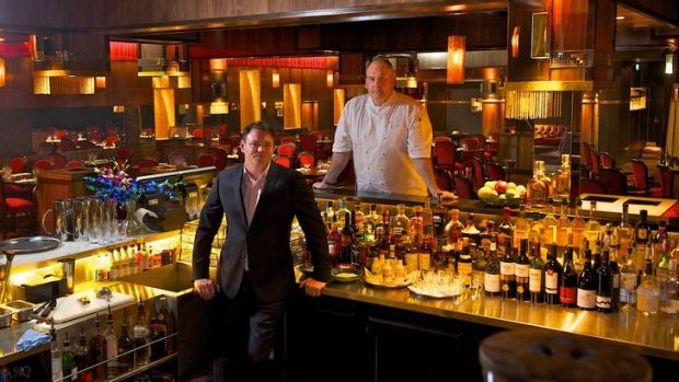Julian Gerner and executive chef Paul Wilson in the Cellar Bar.