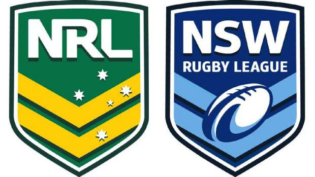 The new logos for the National Rugby League and the NSW Rugby League.
