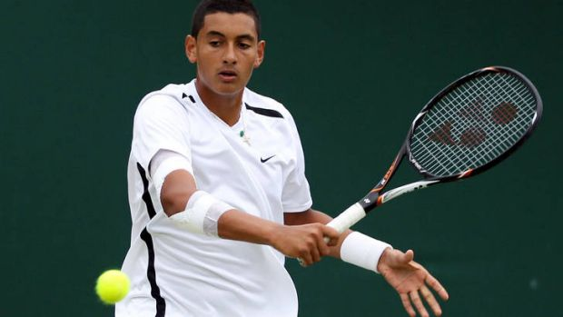 Canberra's Nick Kyrgios won the singles title of the Mayor?s Cup World Super Junior Tennis Championship in Osaka.