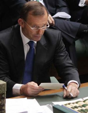 """""""Serious character defects"""" ... Micke Seccombe on Tony Abbott (pictured)."""