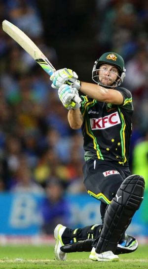 Playing for keeps … Matthew Wade got the nod.
