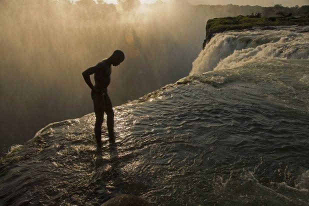 The Victoria Falls in Zambia.
