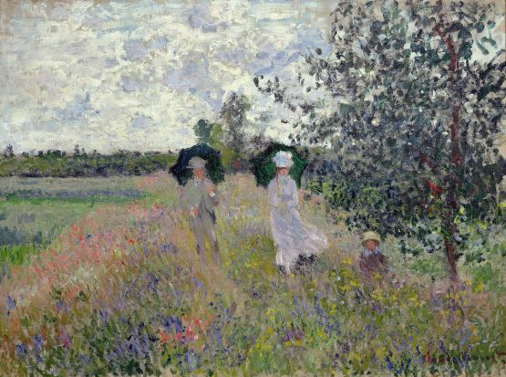 Promenade near Argenteuil, 1873 (oil on canvas). Monet, Claude (1840-1926)