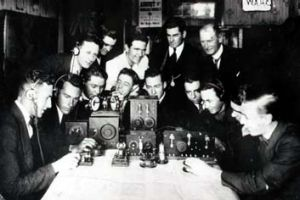 The old and the new ... the foundation members of the Waverley Amateur Radio Society in 1920.
