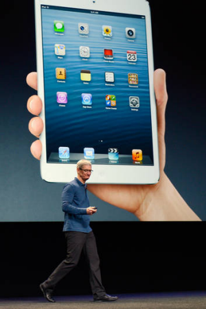 Apple CEO Tim Cook speaks as the new iPad mini is unveiled.