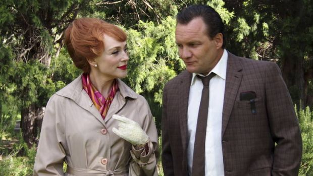 Susie Porter as Peggy Berman and Jeremy Sims as Dr Bertram Wainer in the drama <i>Dangerous Remedy</i>.