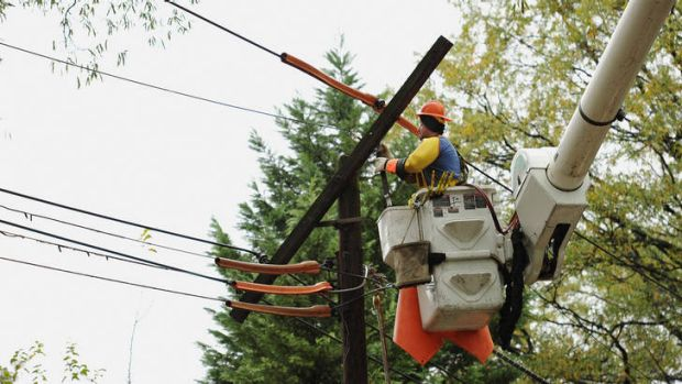 A woman was killed by a power line.