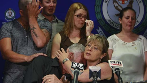 Lynette Bradbury's family cry as they appeal for information into her death.