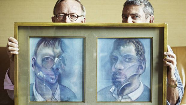 A master's makeover … Bacon's Paris neighbours, art historians Reinhard Hassert (left) and Eddy Batache, with the double ...