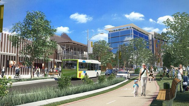 An artists' impression of the Ripley development.