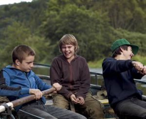 Coming of age … brothers and friend Seth ( Martin Nissen), Zak (Zacharie Chasseriaud) and Danny (Paul Bartel).