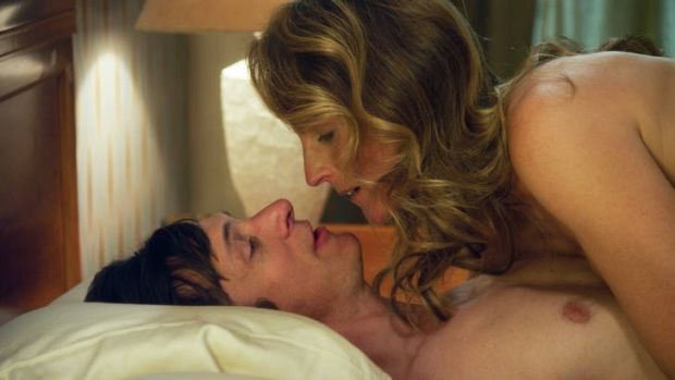 In session … Mark (John Hawkes) and his therapist (Helen Hunt) get to work.