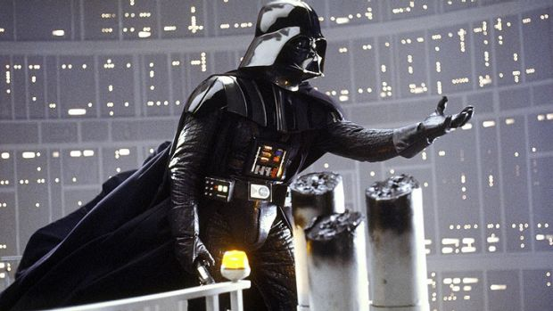 "The words behind the voice behind the mask ... Lawrence Kasdan wrote the immortal ""I am your father"" by Darth Vader in ..."