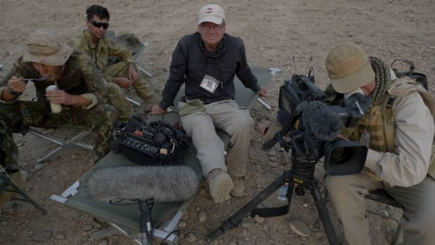 Chris Masters on assignment in Afghanistan.