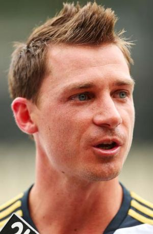 Dale Steyn speaks to the media at the SCG on Thursday.
