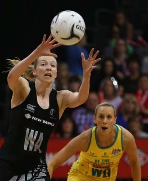 Jump to it ... NZ's Camilla Lees on the ball.