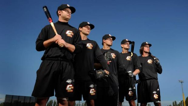 The fab five of the Canberra Cavalry (l-r) Jeremy Barnes, Brian Grening, Robert Dickmann, Kody Hightower and Jack Murphy ...