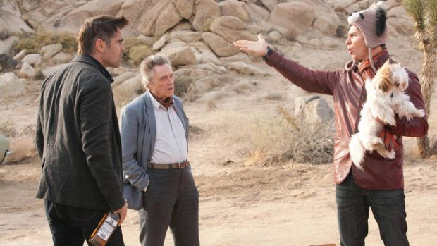 Marty (Colin Farrell, left), Hans (Christopher Walken, centre) and Billy (Sam Rockwell) in Martin McDonagh's <i>Seven ...