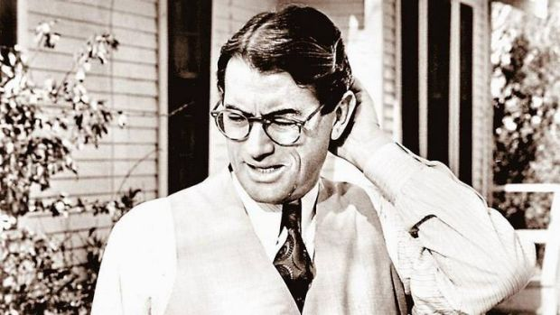 Gregory Peck as Atticus Finch.