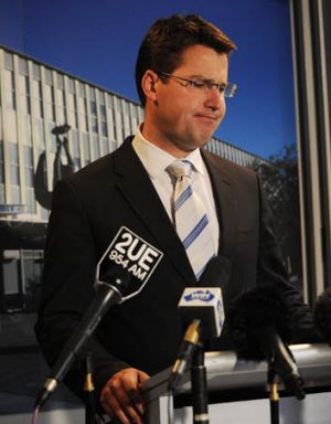 A disappointed Liberal leader Zed Seselja.