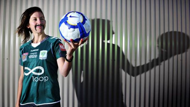 Canberra United midfielder Sally Shipard will sport a fake moustache throughout November.