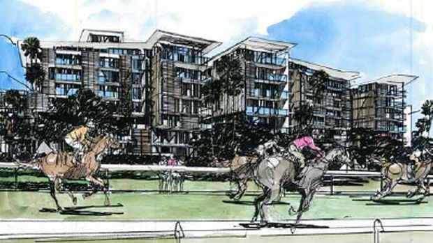 Brisbane Racing Club's proposal for high-rise residential development could see people living near the courses by 2020.