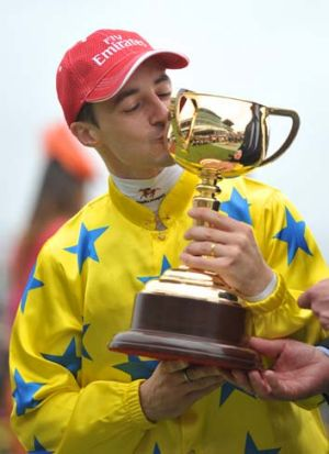 Last year ... in 2011 the Melbourne Cup was won by Dunaden ridden by Christophe Lemaire.