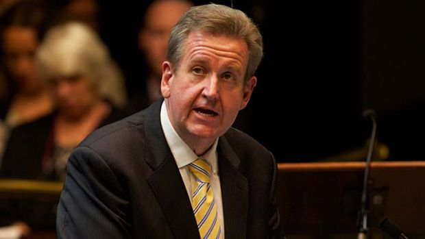 """I'm a lover not a fighter"" ... NSW Premier Barry O'Farrell."