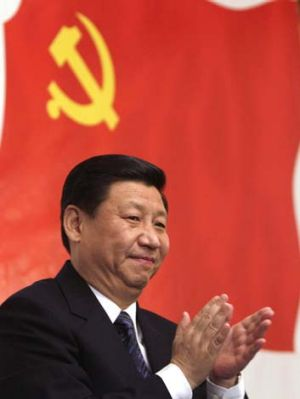 Once-in-40-year coincidence ... the US and China leadership transition. Above, China's general secretary Xi Jinping.