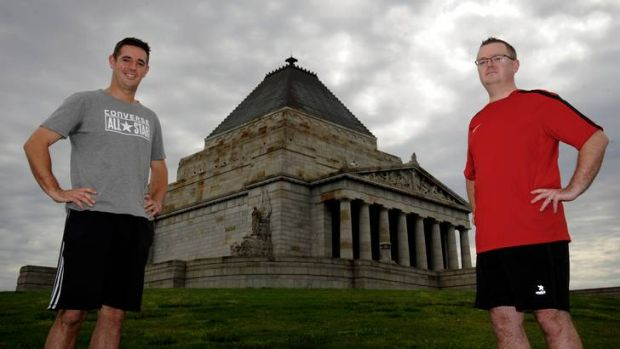 Brothers Mark (left) and Scott  Eaton are set to run in the City2Sea next Sunday on  Remembrance Day, which has a ...