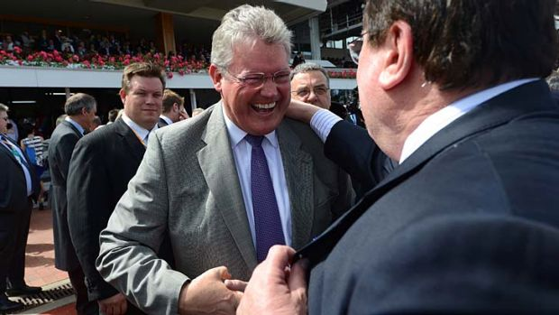 Winners are grinners: Anthony Cummings after the Derby.