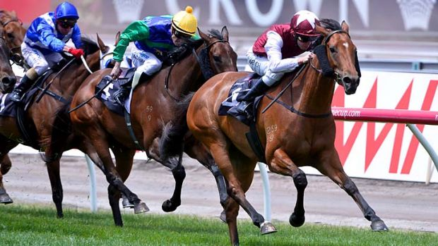 Kerrin McEvoy guides Zydeco home in the Wakeful Stakes.
