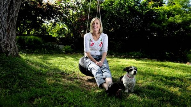 Katy Gallagher with her dog Monty.