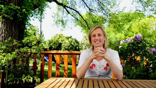 ACT Chief Minister Katy Gallagher at her home in Lyneham.
