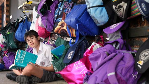 All figured out ... after sitting HSC exams in maths extension 1 and 2, Jacob Bragg is ready to tackle university-level ...