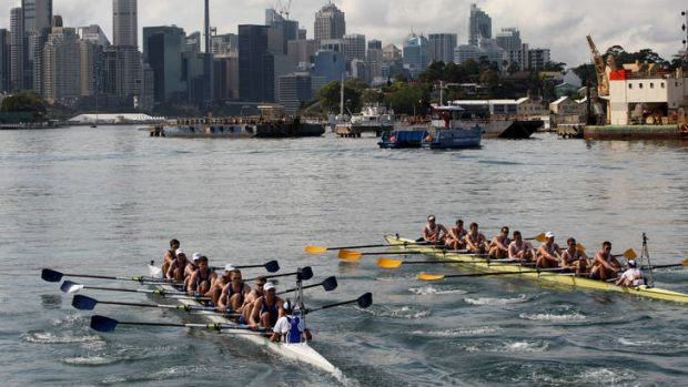 The race was held on Sydney's harbour.