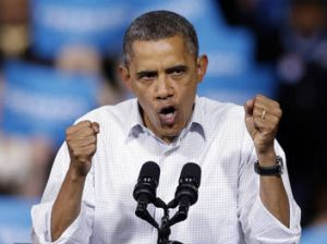 President Barack Obama speaks at a campaign event in Milwaukee.